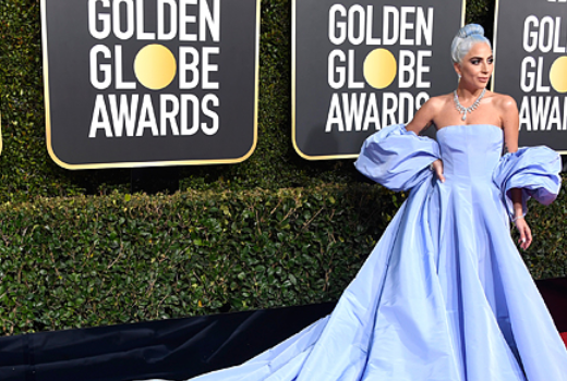 Lady Gaga with Tiffany on Golden Globe® Awards